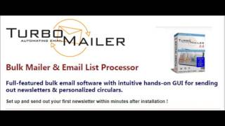 Turbo Mailer Cracked, Turbo Mailer with Licence Key 2017