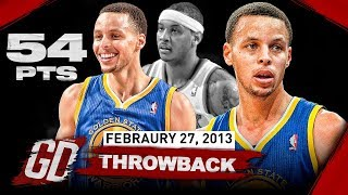 The Game That Stephen Curry Became Famous! Career-HIGH Highlights vs Knicks 2013.02.27 - 54 Points!