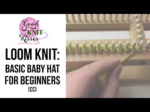 How to Loom Knit a Hat - Beginner (baby beanie)