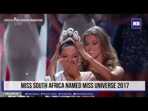 Crowning moment of South Africa's Demi-Leigh Nel-Peters as Miss Universe 2017