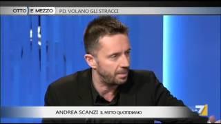 video Il giornalista e scrittore de Il Fatto Quotidiano discute sulla situazione interna al Pd e sul governo Renzi a Otto e mezzo, con il deputato Pd Matteo Richetti e la giornalista Chiara Geloni.