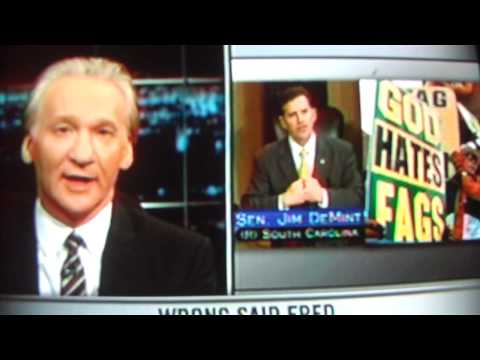 Another Bill Maher Joke re Pedophile Priests Jim DeMint.MOV