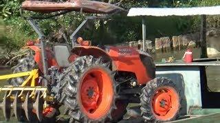 Mở hàng cái máy cày mới mua kubota 6040/kubota tractor