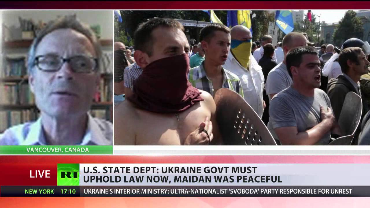 'US State Dept has been whitewashing the violence of right wing protesters on Maidan'
