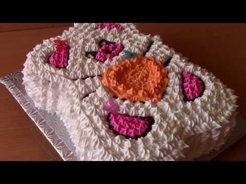 Детский Кремовый торт  МИШКА,как украсить Торт для Детей КРЕМОМ Cake hedgehog
