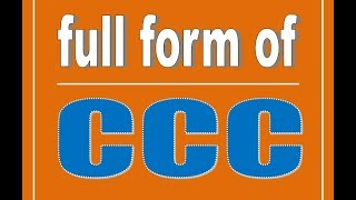 What Is Ccc Full Form 3GP Mp4 HD Video Download