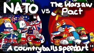 NATO vs The Warsaw Pact! | The Cold War | Countryballs Speedart