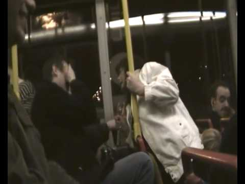 Drunk Woman on Bus Video