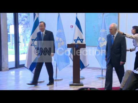 BAN KI MOON AND PERES MEET-SYRIA CHEMICAL WEAPONS