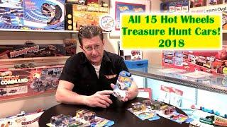 Hot Wheels Treasure Hunts all 15 For 2018 | Hot Wheels