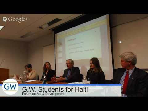 GW Students For Haiti International Aid & Development Panel