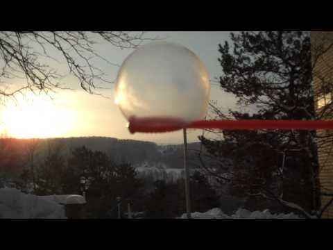 watching a bubble freeze