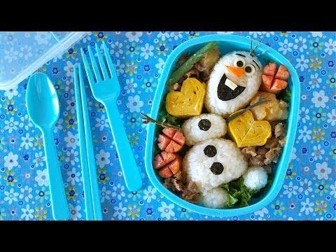 Olaf Bento Lunch Box (FROZEN Do You Wanna Build A Snowman? Disney Recipe) オラフ弁当 (アナと雪の女王 レシピ)