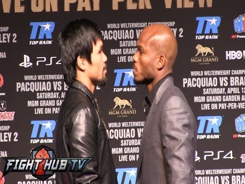 Pacquiao vs. Bradley 2 final press conference and face off video