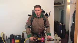 Real Ghostbusters Proton Pack demo