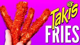 TAKIS FRENCH FRIES - How To Make Taki Chips Covered Fries