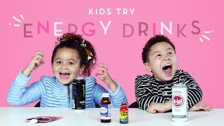 Kids Try Energy Drinks | Kids Try | HiHo Kids
