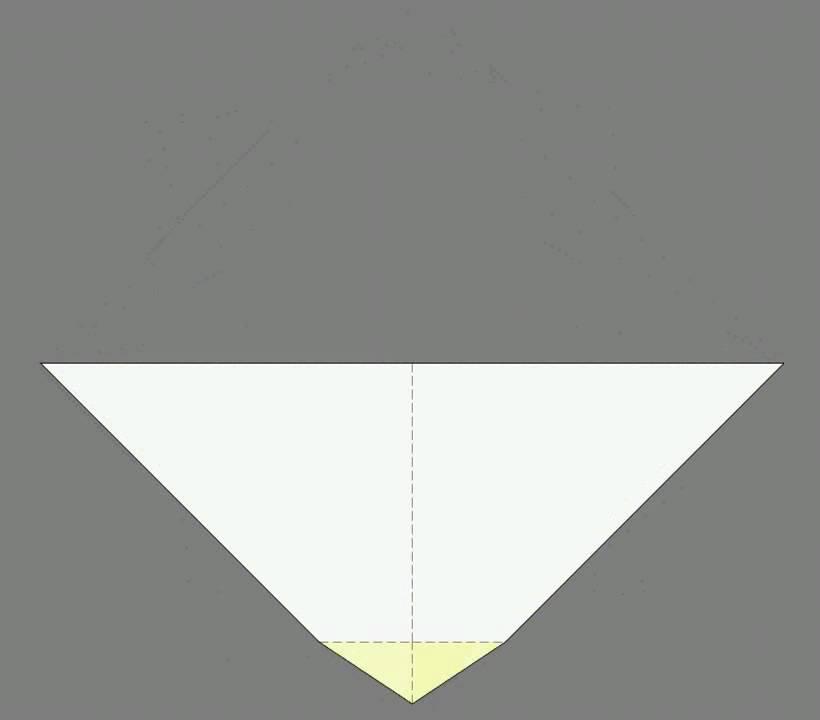 Оригами схема сборки маска