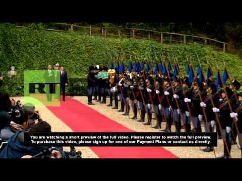 Italy: Obama talks Ukraine and Libya with Renzi in Rome