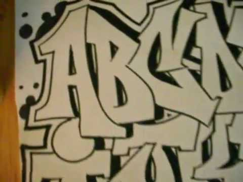 graffiti alphabet, messin