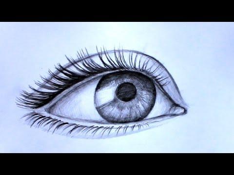 Уроки рисования. Как нарисовать РЕАЛИСТИЧНЫЙ ГЛАЗ  карандашом