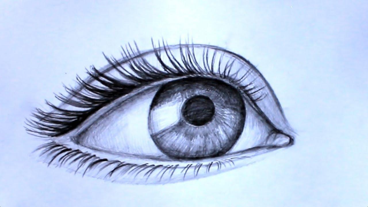 Как нарисовать карандашом глаза человека