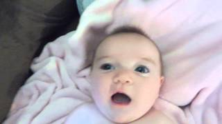 NEW BORN BABY LAUGHING FOR FIRST TIME