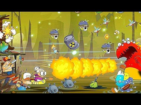 Крутая игра на Android SWAMP ATTACK мультики для детей Прохождение игры атака на болоте