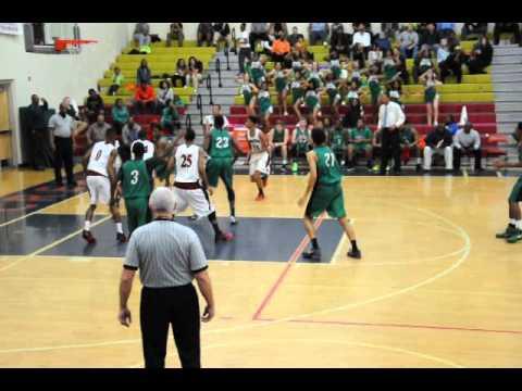 Fred Sanders, #0, on Defense - Mallard Creek High School vs A.L. Brown (Varsity Basketball)