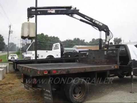 7.3 Powerstroke Trucks For Sale >> F550 CRANE KNUCKLEBOOM TRUCK BALANCES! LIFTS HUGE CONCRETE BLOCK! FAST - YouTube