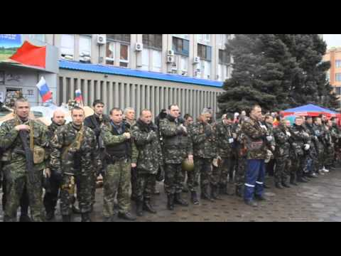 Slaviansk Lugansk Donetskaya Republic Freedom Fighters. Anthem Of Russia Гимн России Руку на сердце!