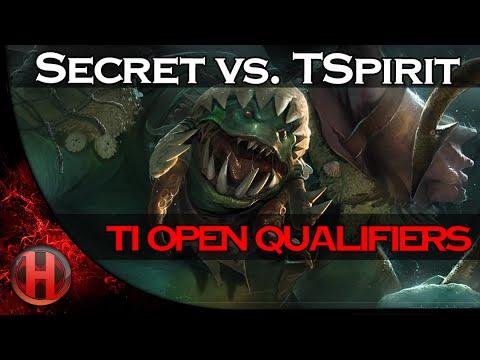 Team Secret vs. Team Spirit TI Open Qualifiers 2016