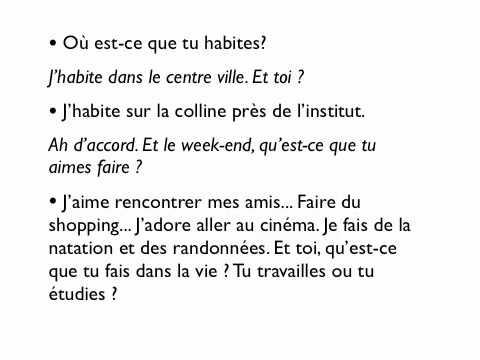 French Lesson Je Me Pr 233 Sente Youtube