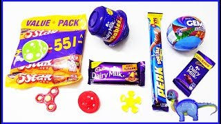 Learn Colors With Surprise Toys Cadbury Chocolates And candies