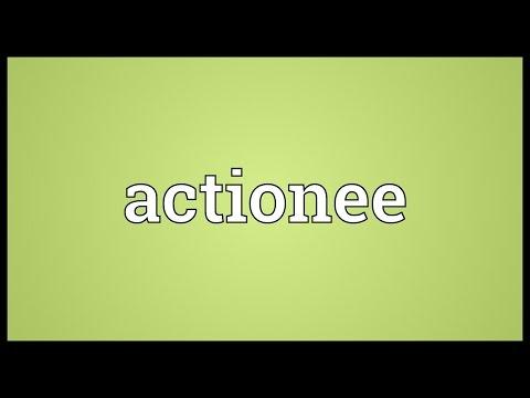 Header of Actionee