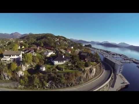 Drone over Havhesten i Florø