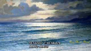 Luciano Pavarotti Video - TORNA A SURRIENTO  (LYRICS).  LUCIANO PAVAROTTI. PEINTURES MARINES.