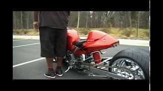 Hayabusa 1300cc custom on air ride fat rear tire & chrome-big boyz toyz dvd