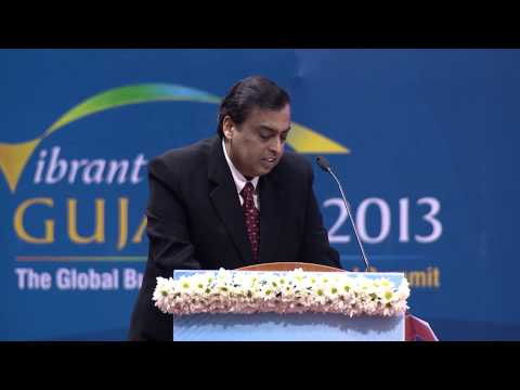 Mukesh Ambani's speech during inaugural ceremony of Vibrant Gujarat Global Summit 2013