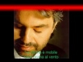 andrea bocelli la donna e mobile(with lyrics).wmv