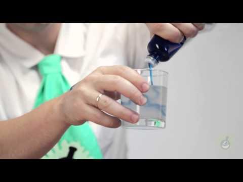 Научное шоу. Как можно приготовить полимерного червяка.
