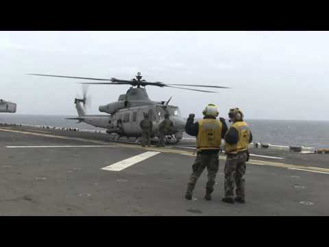 SOUTH KOREA!  Navy and Marine Corps Aircraft Provide Assistance at Sunken Ferry Sewol Site!