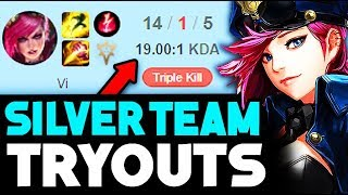 I TRIED OUT FOR A SILVER TEAM THEN GOT REJECTED?!...WHAT?! **INSANE REACTIONS** (League of Legends)