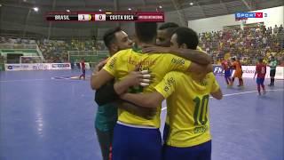 Gols Brasil 3 x 1 Costa Rica - Amistoso Internacional de Futsal 2017 (17/11/2017)