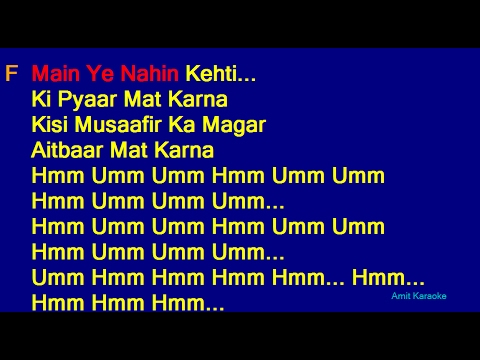 Pardesi Pardesi - Udit Narayan Alka Yagnik Sapna Awasthi Hindi Full Karaoke with Lyrics