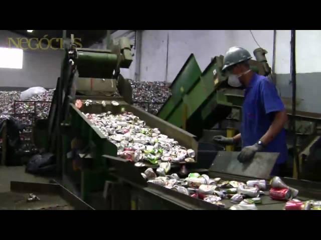 O processo de reciclagem das latas de alumínio