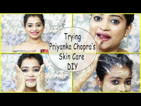 Trying Priyanka Chopra's Best Skin Secret All Natural DIY/Lip Scrub, Body Pack, Hair Pack Review