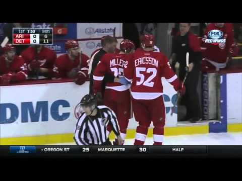 Drew Miller Injured After Hit from Dahlbeck
