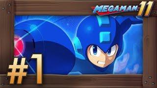Mega Man 11: Walkthrough Part 1 - Bounce Man & Fuse Man (Switch Gameplay)