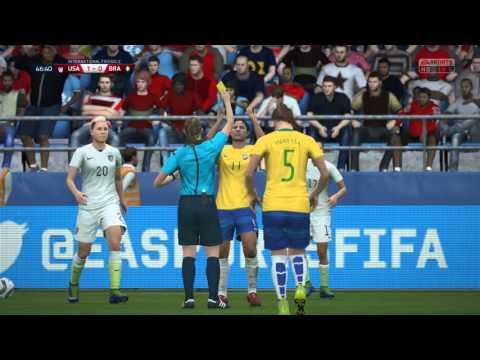 FIFA 16 - USA vs. Brazil Women's International Friendly Gameplay